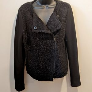 Sandwich_ Boiled wool moto jacket medium